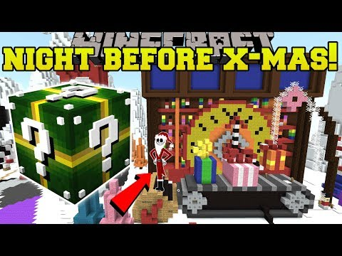 Minecraft: NIGHTMARE BEFORE CHRISTMAS HUNGER GAMES - Lucky Block Mod - Modded Mini-Game