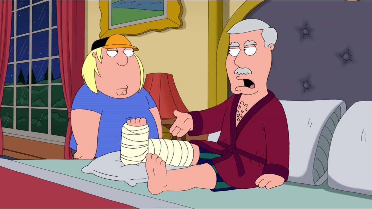 Family guy chris gets a helping hand