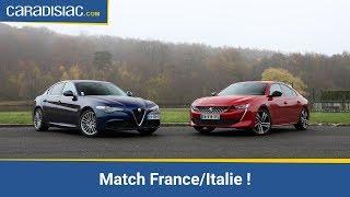 Comparatif - Peugeot 508 Vs Alfa Romeo Giulia : Les Berlines Se Rebiffent