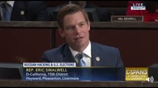 Rep. Swalwell questions frmr DHS Sec'y Jeh Johnson at House Intel hearing on Russian hacking
