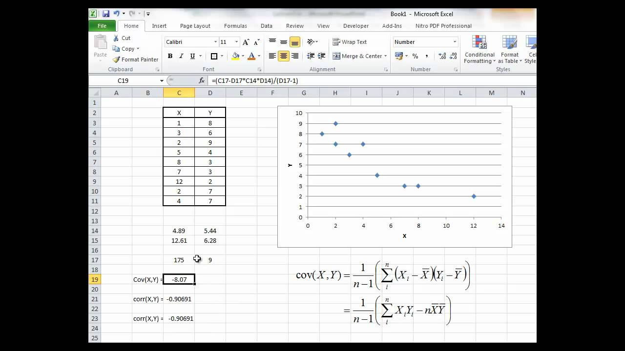 BFIP13: Calculating Sample Covariance and Correlation with Excel ...