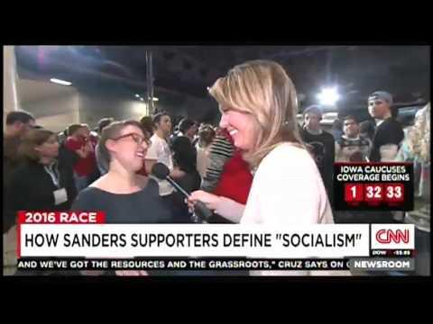 CNN Reporter Asks Bernie Sanders Supporters to Define
