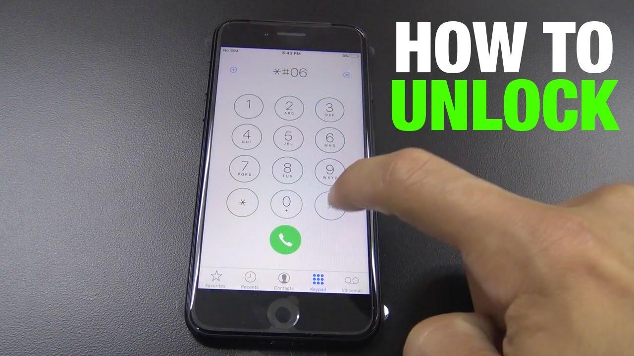 How to unlock a iphone 7 plus tmobile