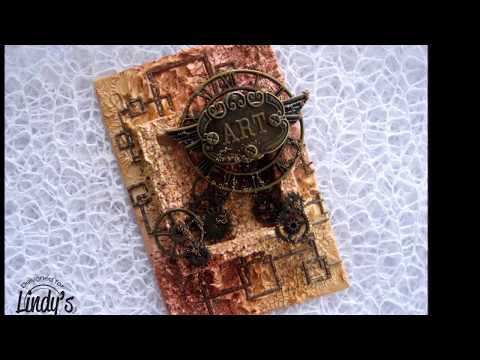 ''ART'' - Mixed Media Canvas Tutorial for Lindy's Stamp Gang