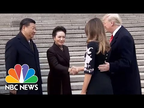 Chinese President Xi Jinping Welcomes President Donald Trump With Ceremony   NBC News