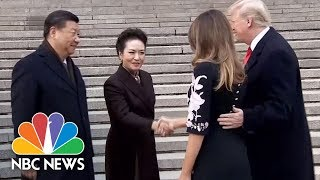 Chinese President Xi Jinping Welcomes President Donald Trump With Ceremony | NBC News