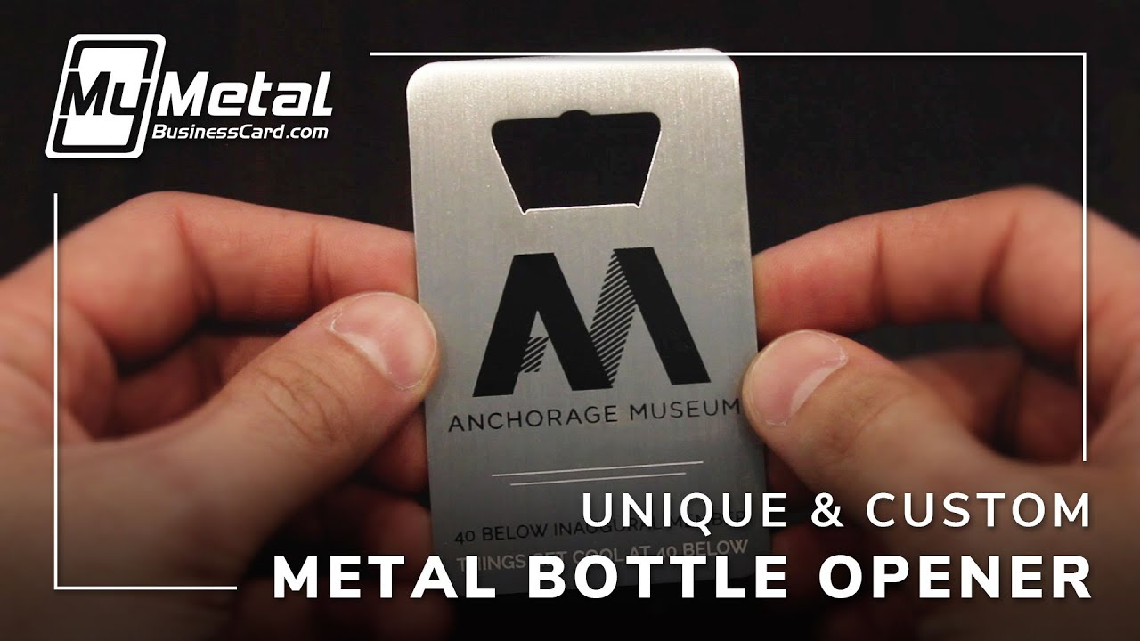 Stunning Custom Made to Order Metal Bottle Opener Business Cards ...