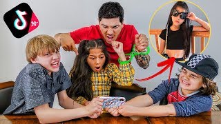 MY FRIENDS REACT TO MY TIK TOKS  *GONE WRONG* | Familia Diamond