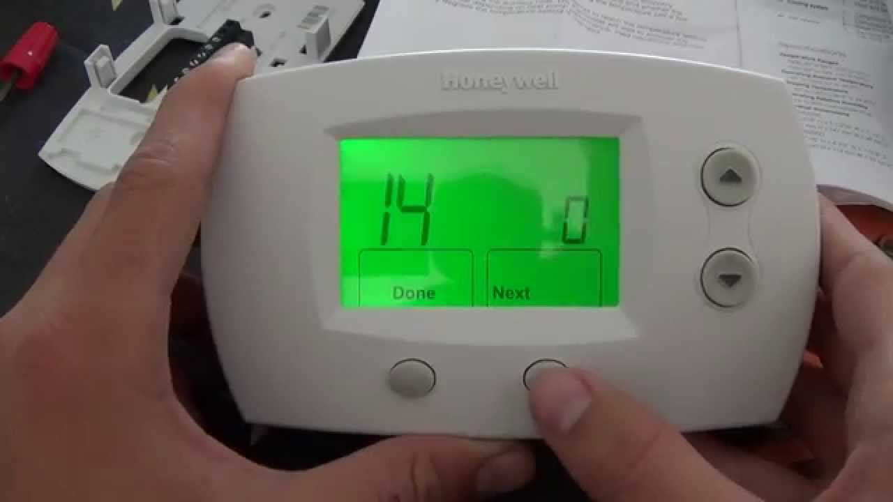 thermostat installation honeywell focuspro 5000 youtube rh youtube com honeywell thermostat th5220d1003 wiring diagram Honeywell Thermostat Wiring Schematic