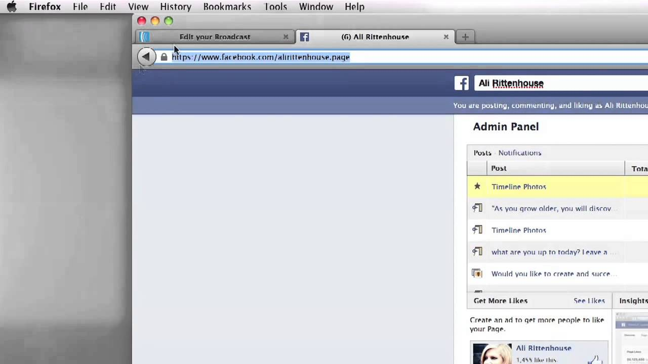how to add social links on facebook