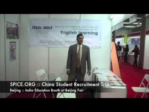 SPICE.ORG :: China Student Recruitment Trip :: Beijing :: India Education Booth at Beijing Fair