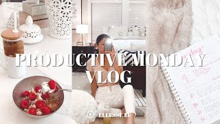 PRODUCTIVE MORNING VLOG ☆ chloe ting workout, august daily goals, aesthetic planning