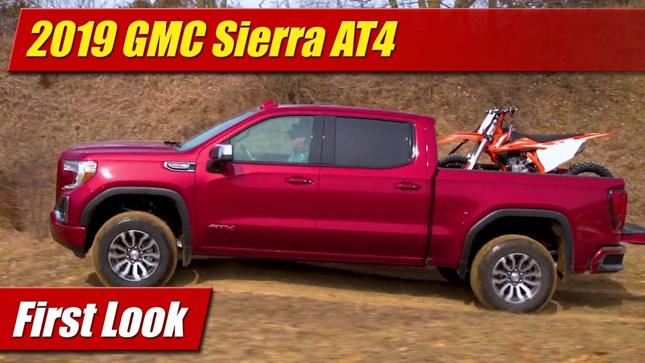 Lifted Gmc Canyon >> 2019 GMC Sierra AT4 Off-Road: First Look - YouTube