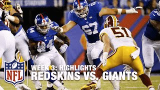 Redskins vs. Giants | Week 3 Highlights | NFL