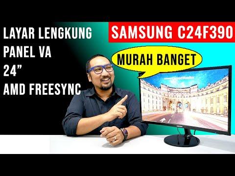 1,5Juta, Monitor Layar Lengkung (Curve) Termurah? Review Samsung C24F390 - Indonesia