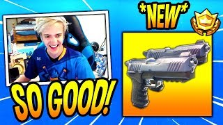 NINJA LOVES THE *NEW* DUAL-WIELDED PISTOLS! *LEGENDARY* Fortnite SAVAGE & FUNNY Moments