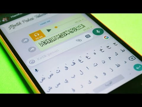 Cara Memunculkan Huruf Arab Pada Keyboard Android
