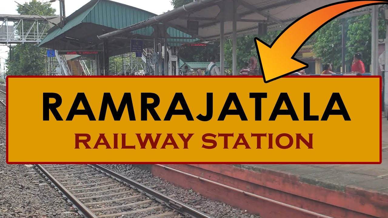 RMJ, Ramrajatala railway station, India in 4k ultra HD