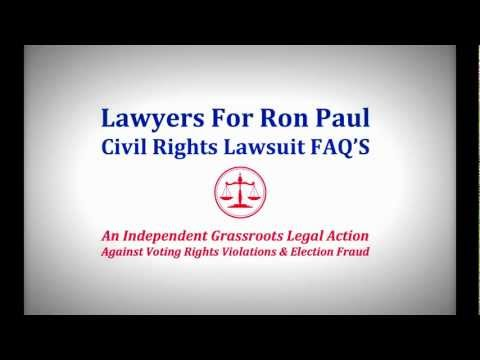 anonymous 2012 Lawyers for Ron Paul civil rights lawsuit