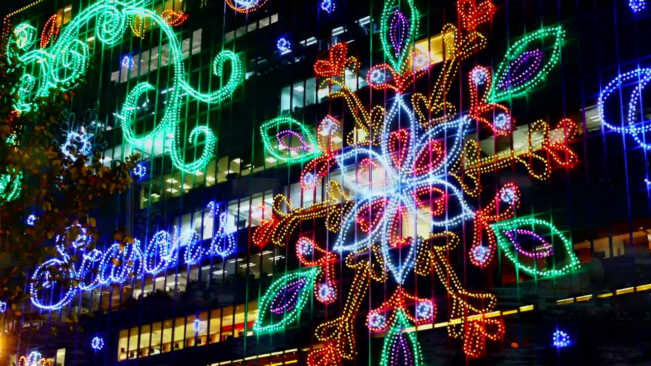 Christmas Lighting.Christmas Lighting In Hong Kong 2016