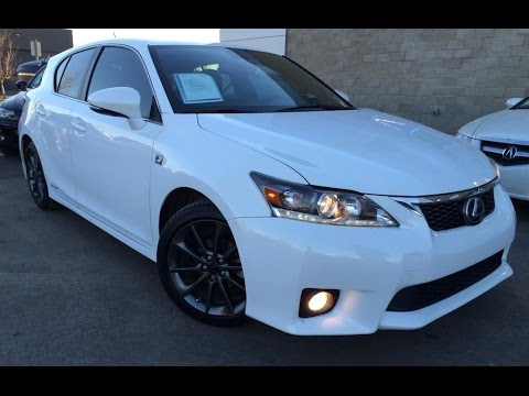 Superb Used Ultra White 2013 Lexus CT 200h FWD Hybrid F Sport Review | Fort  McMurray Alberta