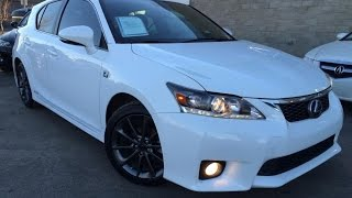 Used Ultra White 2013 Lexus CT 200h FWD Hybrid F Sport Review | Fort McMurray Alberta