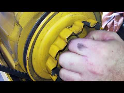how to put on a manual PTO Clutch on 122 Cub Cadet