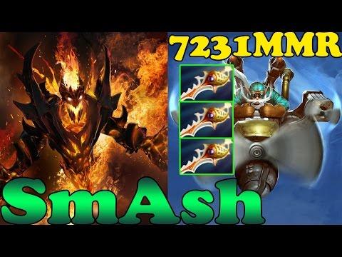 Dota 2 SmAsH 7100 MMR Plays Invoker And Shadow Fiend