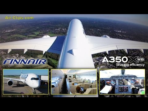 Finnair A350-900 XWB Business Class first flight to Helsinki HOT!!! [AirClips full flight series]