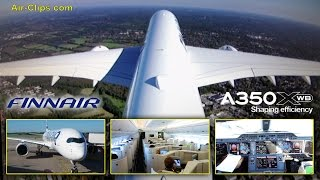 Finnair A350-900 XWB Business Class first flight to Helsinki HOT!!! AirClips full flight series