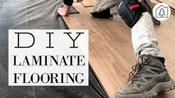 HOW TO INSTALL LAMINATE FLOORING   DIY Flooring Installation Process + Tips