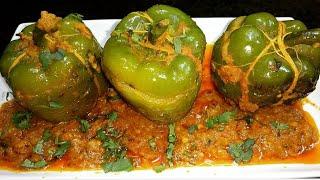 Stuffed Shimla mirch - Veg weekend Easy Recipe | Roasted Stuffed Capsicum | ungli chat te reh jaenge