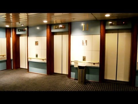 "1989 ""Dan Elevator"" traction elevators (2001 mb MacGREGOR-KONE) @ Cruiseferry M/S Pearl Seaways"