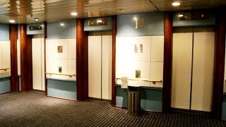 FULL tour of the 1989 elevators (2001 mb KONE M-series) @ Cruiseferry MS Pearl Seaways (DFDS)