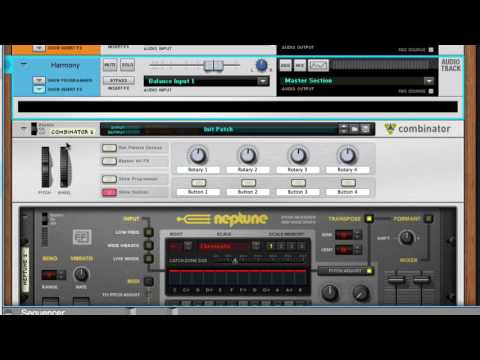 Reason 9: Using Players with the Neptune Voice Synth