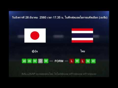 พรีวิวฟุตบอล ก่อนเตะ วันนี้ขอเสนอ ทีมชาติญี่ปุ่น vs ทีมชาติไทย