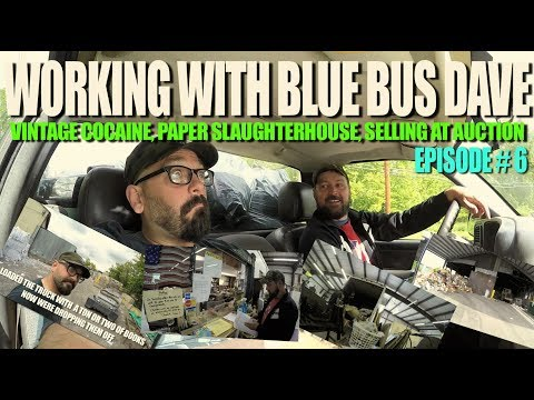 WORKING WITH BLUE BUS DAVE #6 Paper Recycling Plant, Scrap, Antique Auction House, Vintage What?