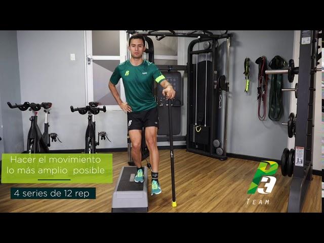 Técnica de ciclismo en polea