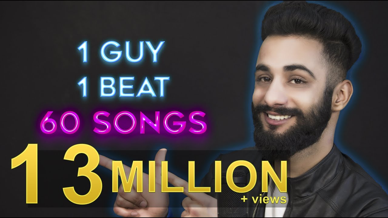 1 GUY | 1 BEAT | 60 SONGS | Aarij Mirza | Mashup #1