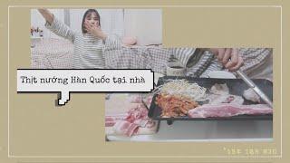 Đi chợ mua đồ ăn thịt nướng Hàn Quốc(kèm giá tiền)|Ở nhà một mình|DU HỌC SINH HÀN QUỐC ♡ Rin Go