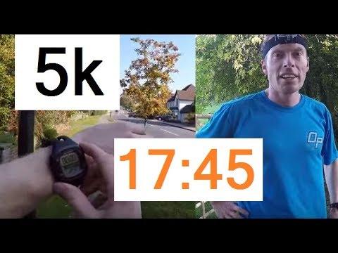 5k Training Run - Under 18 Minutes (17:45) - GoPro   Chris PT