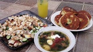 Суп с крапивой. Обед на даче.
