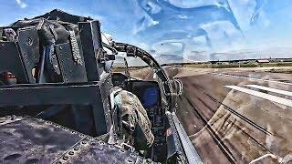 F-15E Strike Eagles Takeoff + F-15D Cockpit View Takeoff