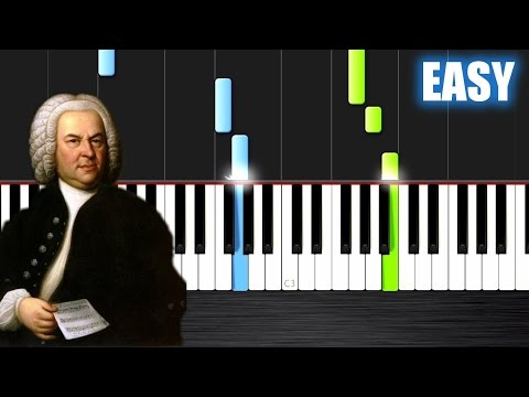 Bach: Air on the G string  EASY Piano Tutorial  PlutaX  Synthesia