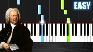 Bach: Air on the G string - EASY Piano Tutorial by PlutaX - Synthesia