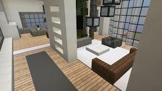 Minecraft - Modern apartment speedbuild and showcase