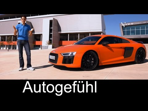 FULL REVIEW All-new Audi R8 V10 plus test driven 2016 with racetrack - Autogefühl