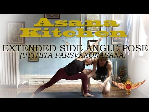 Asana Kitchen: Extended Side Angle Pose (Utthita Parsvakonasana) with David Garrigues