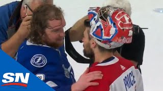 Canadiens And Lightning Exchange Handshakes After Tampa Bay Wins Stanley Cup In Game 5
