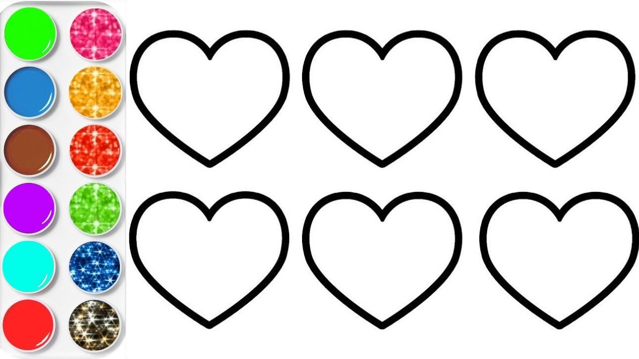 Dessiner des coeurs et coloriage plan te coloriage youtube - Coloriage youtube ...